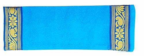 Almohada relajante para ojos rellena de lavanda y linaza, azul celeste