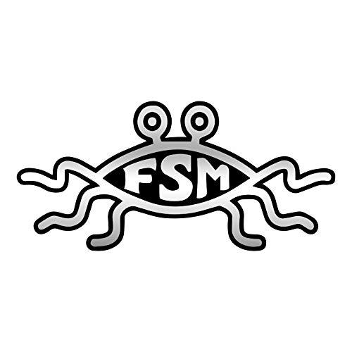 FSM Flying Spaghetti Monster Plastic Emblem Magnet - [5.5' x 2.5']