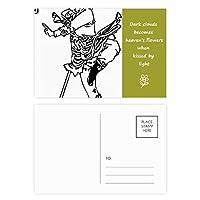 中国の巡礼を描く傑作 詩のポストカードセットサンクスカード郵送側20個