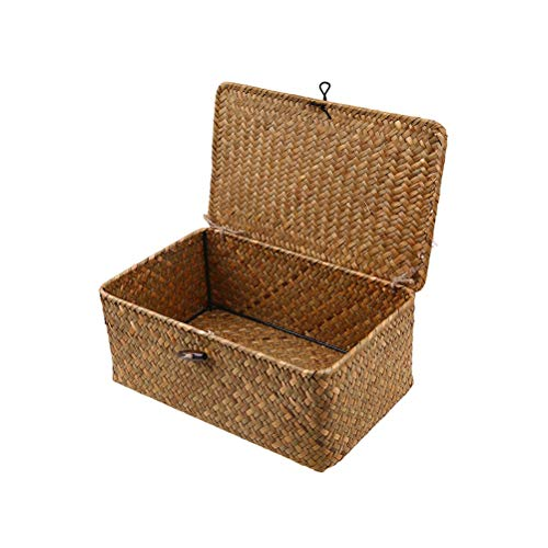 Vosarea Wicker Basket Gift Baskets Empty Oval Willow Woven Picnic Basket Cheap Easter Candy Basket Storage Wine Basket with Handle Egg Gathering Wedding Basket11.4X7.4X4.7 inch