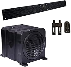 Wet Sounds Package - Black Stealth 10 Ultra HD Sound Bar w/Remote and AS-6 6