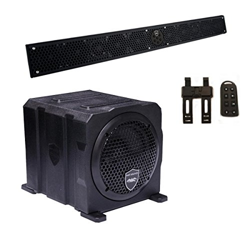 """Wet Sounds Package - Black Stealth 10 Ultra HD Sound Bar w/Remote and AS-6 6"""" 250 Watt Powered Stealth Subwoofer"""
