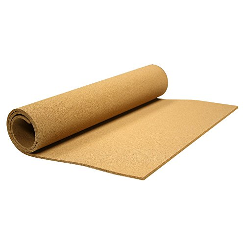 Thornton's Office Supplies Cork Roll Bulletin Board Natural 24 x 48 x 0.25 in. Hobby DIY Projects Frameless Shelf Liner & Drawer Liner Corkboard for Craft & Classroom Display Decorations