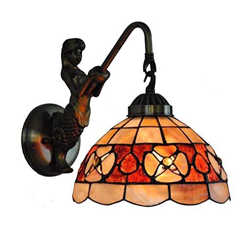 Lage prijs tafellamp bedlampje kristallen kroonluchter hanglamp plafondlamp wandlamp wandlampen 2019 nieuwe wandlamp, 8-inch kameelie natuurschalen glasverf wandlamp met Nixens