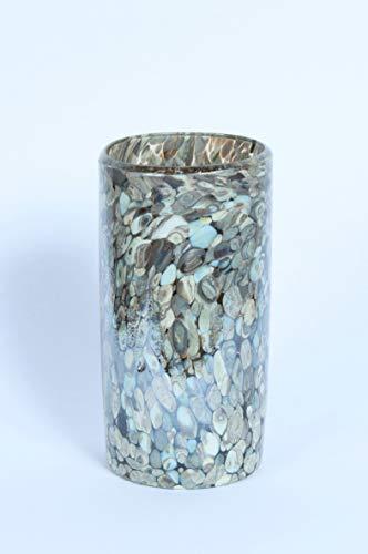 Sirena Edition - Mexicaanse handgeblazen vaas | Marble Design | 20cms | Gemaakt van gerecycled glas (20x10cms)