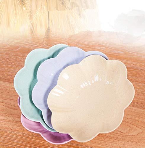 Heng creatieve europese huishoudelijke fruitschaal woonkamer theetafel plastic snoeplade kantoor snackpan fruitschaal, blauw, 23,5 cm