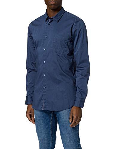 BOSS Magneton_1 10232596 01 Camisa, Open Blue489, L para Hombre