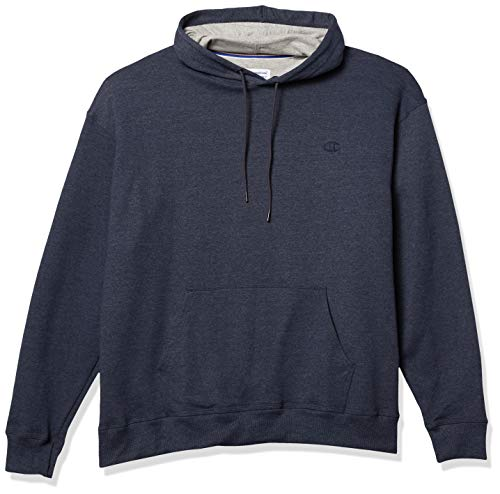 Champion Men's Powerblend Pullover Hoodie, Navy Heather, XX-Large