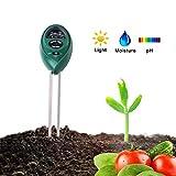Ytesky Humidimètre de Sol, 3 en 1 Testeur de Sol testeur de Mesure de l'acidité de l'humidité/lumière/pH Soil Tester Kit Testeur ph metrepour Fleurs,Plante,Jardin,Ferme,Pelouse,Intérieur,Extérieur