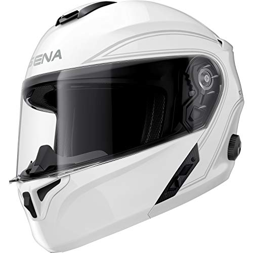 Sena Outrush Modular Smart Helmet (Gloss White, Large) (OUTRUSH-GW00L)