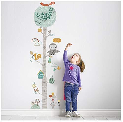 Niedlicher Waldbaum Höhe Messen Wandaufkleber Für Kinderzimmer Kinderzimmer Kinderwachstumstabelle Wandtattoo Baby Tierzimmer Dekor
