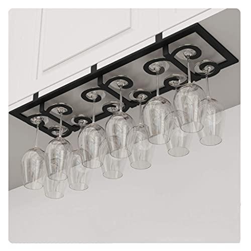 HYYK Weingläser-Rack Weinglas-Rack-Ständer Eisenmaterial Nagelfreie Installation, Raum verdoppelt belüften und entleeren 10KG Lager
