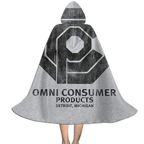 KUKHKU Omni Consumo Productos Robocop Unisex Nios Capa con Capucha Halloween Navidad Decoracin Papel Cosplay Disfraces
