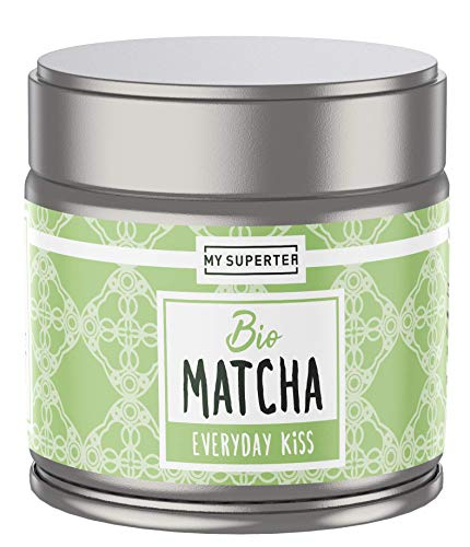 Bio Matcha Pulver - Everyday Kiss I Mild fruchtiger Bio Matcha Tee aus Japan I 30 Gramm Premium Matcha Bio by MY SUPERTEA