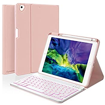 iPad Keyboard Case for iPad 10.2  8th/7th Gen 2020/2019 - iPad Pro 10.5  2017 - iPad Air 3rd Gen 2019 -Ultra-Thin Leather Smart Case with Magnetic Detachable Wireless Backlit Keyboard Rose Gold