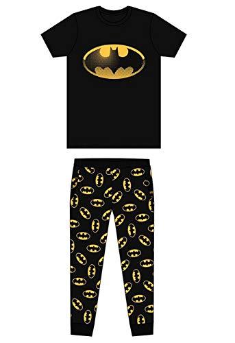 Undercover Lingerie Ltd - Pijama - para hombre Batman Black/Yellow Bat Sign S