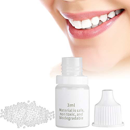 Material de relleno temporal para dientes, relleno temporal de 3 ml Dentaduras caseras Modificación de prótesis de maquillaje para cine y televisión para suministros de Halloween