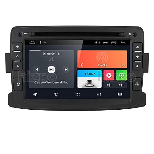 Android 10 Autoradio met Bluetooth GPS Navigatie voor Dacia Renault Dokker Duster Logan Sandero Dacia Renault 2012-2017, 1 Din 7 Inch Touchscreen Auto DVD-speler Radio