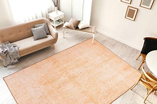 One Couture Teppich Vintage Used Look Verwaschen Washed Design Wohnzimmer Terra Orange Wohnzimmerteppich Esszimmerteppich Teppichläufer Flur-Läufer, Größe:160cm x 230cm