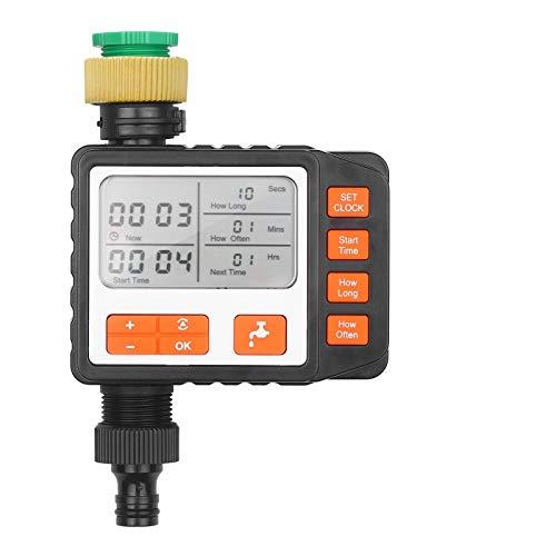 Zhengowen Control de Riego Temporizador De Riego Al Aire Libre Programable Outlet Individual Automático En El Sistema De Riego Temporizador de Rociadores de Grifos (Color : Black, Size : US)