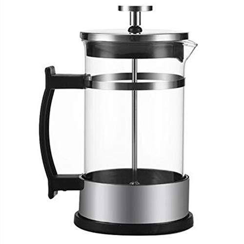 Cafetera Francesa,Cafetera Francesa espresso y tetera,filtro doble, se puede usar té y café,fabricada en acero inoxidable 304 y vidrio,tetera, cafetera manual para café expreso,cafetera 350 / 600ml