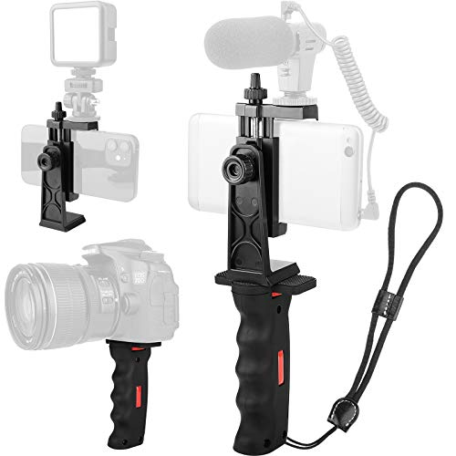 Phone Vlogging Holder,Cell Phone Camera Handle Grip Stabilizer,Ergonomic Phone Video...