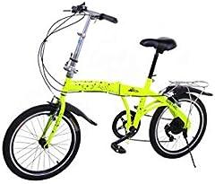 Riscko Wonduu Bicicleta Plegable Metric Bep-33 Amarillo Fluor