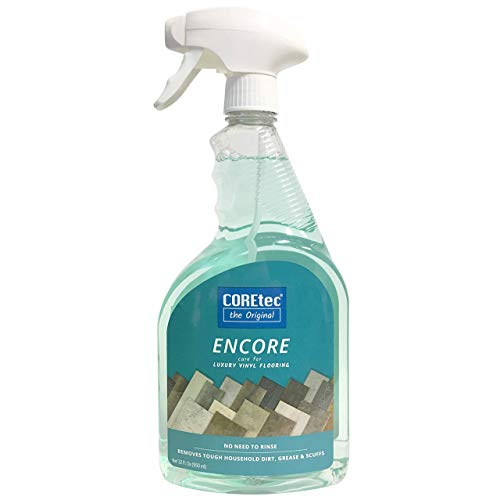 COREtec ENCORE 03Z76 Floor Cleaner Care for Luxury Vinyl Flooring Ready To Use 32oz Spray Bottle