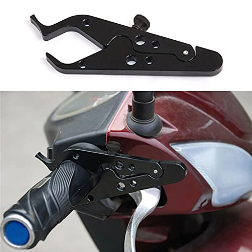 Universal Motorcycle Aluminium Cruise Control, Throttle Assist and Lock Wrist Hand Tension Clamp with Silicone Ring