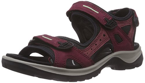 ECCO Women's Yucatan Sport Sandal, Morillo/Port/Black, 10 M US