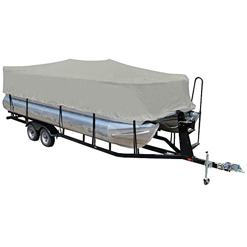 LEADALLWAY 600D Pontoon Boat Cover PU Coating and Water Proof Heavy Duty Grey1720FT