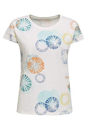 ESPRIT Damen 030EE1K338 T-Shirt, 110/OFF White, XL