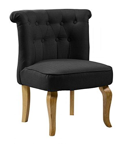 Pembridge - Silla de tela, color negro, tela Pembridge, 560 x 600 x 720 H, muebles de salón