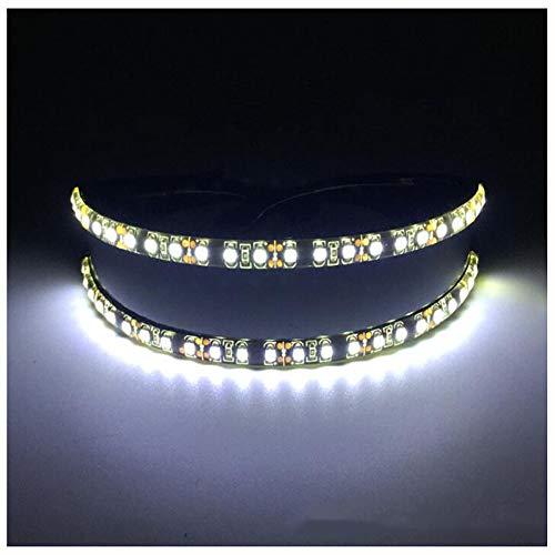 XIONGDA LED-Licht-Gläser Mode Lustige glühende Gläser leuchten Brillen Maske erstaunliche kühle Brillen für Weihnachten Halloween Wild Party-Tanz-Kugel Nacht Clubbing,Weiß