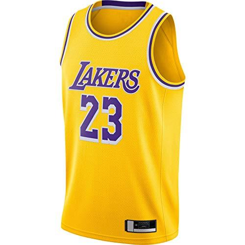 MUDAN 2020/21 Swingman Jersey LBJ Traning Jersey Los Top Sin Mangas Angeles Sudadera Lakers Oro -#23 LeBron Basketball Jersey Icono Edition-M