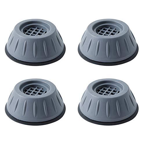Ansemen Máquina Alfombrilla Antivibración 4 Piezas, Ventosa de Protección para Suelo, Pies de Muebles Insonorizados, Almohadilla Antideslizante para Secadora, Nevera, Lavavajillas, Microondas