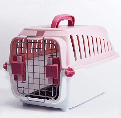 HAOSHUAI Jaula para conejos, práctica y transpirable, con asa, para interiores y exteriores, jaula para animales pequeños hábitat, forguinea, H