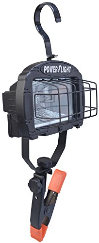 Woods L845 Cci Contractor Work Light, 120 V, Halogen, 250 W Lamp, Watt, Orange/Black