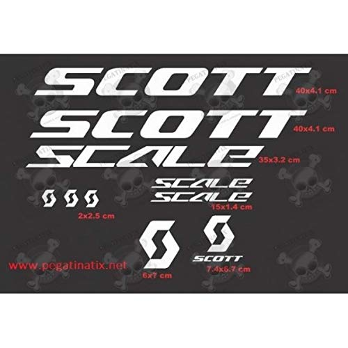 MTB Scott Scale Stickers Decals AUFKLEBER Pegatinas AUTOCOLLANT Full Color