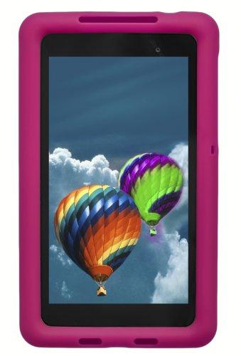 Bobj Rugged Case for Nexus 7 FHD 2013 Model Tablet - BobjGear Custom Fit - Patented Venting - Sound Amplification - BobjBounces Kid Friendly (Not for 1st Generation 2012 Nexus 7) (Rockin  Raspberry)