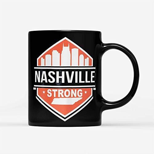 N\A Regalo para Halloween - Christmas Tornado Nashville Strong - Taza Negra 11oz