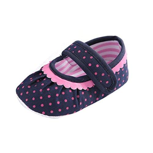 kingko® Bébé infantile Enfants Fille douce Sole Lit enfant nouveau-né tissu Chaussures (6~12 Mois)