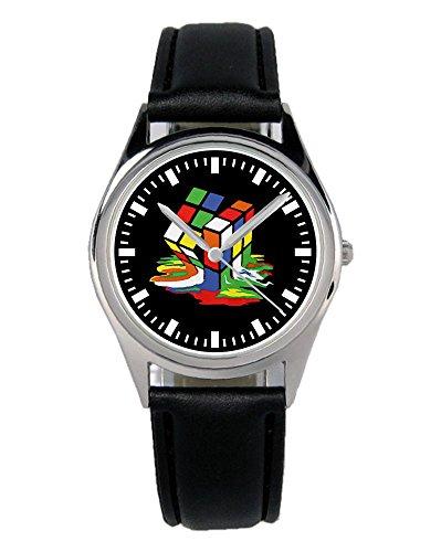 Geschenk für Zauberwürfel Fans Nerd Uhr B-2353