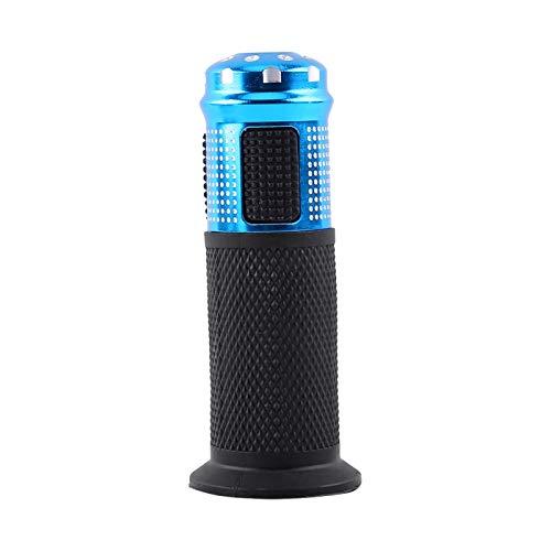 Cerlingwee Empuñadura del Acelerador Manillar Voltaje Universal Interruptor de 3 Engranajes Pantalla de visualización LED Bicicleta eléctrica Pantalla en Tiempo Real Medio para(Blue)