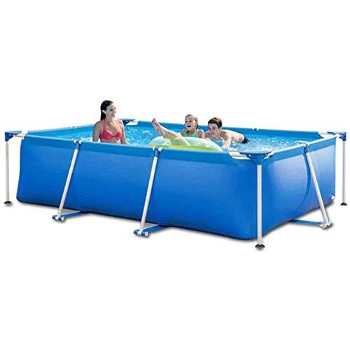 AXHSYZM Piscinas Marco sobre el Suelo Gran Piscina con los niños y Adultos Pueden Nadar Family Pool 300×200×75cm