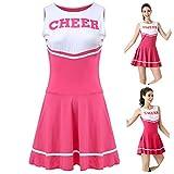 ThreeH High School Girls Uniforme Musical Déguisements Pom-Pom Girl Costume Tenue Taille...