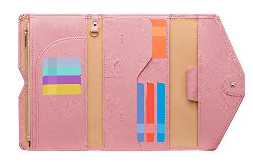 Zoppen Ver. 4 Reiseetui, RFID-blockierend, Ausweis, Reisepass, dreifach faltbar, Dokumenthalter, #6 Quartz Pink (Pink) - TG001