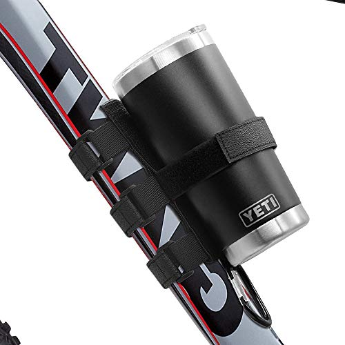 Bike Water Bottle Holder - Universal Portable Adjustable Bike Strap Fits Most Yeti and Hydro Flask Wide and standard water Bottles,Bicycle Bluetooth Speaker Mount