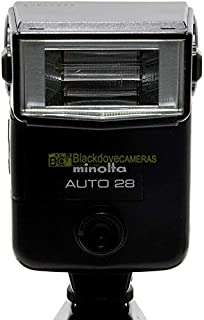 Flash Minolta Auto 28 para cámaras analógicas serie X X-700 X-370 XG-9, etc.