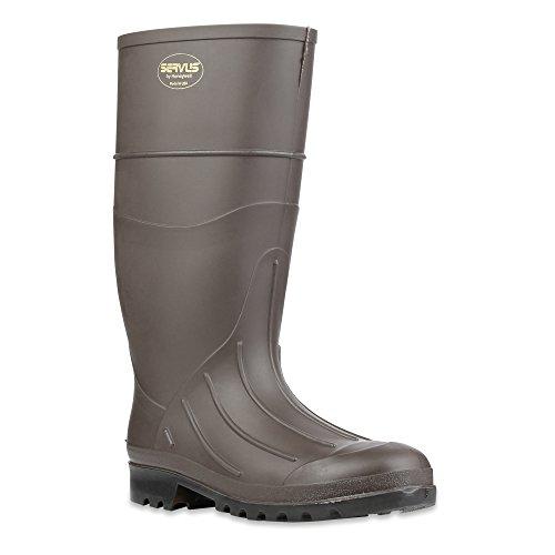 "Servus 15"" PVC Polyblend Soft Toe Men's Work Boots, Brown (size 9)"